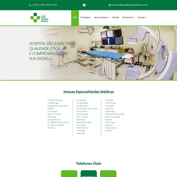 Página Inicial Site Hospital São Judas Tadeu