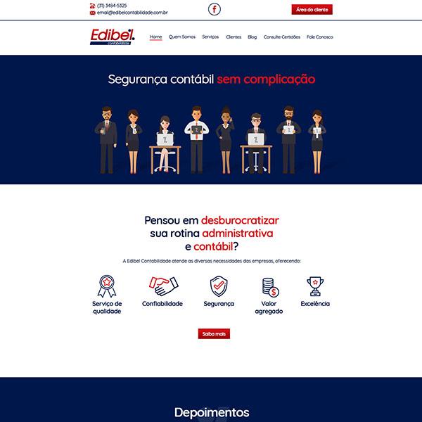 Página Inicial Site Edibel Contabilidade