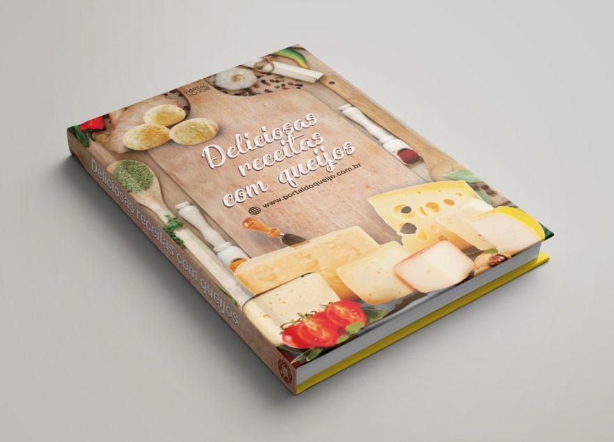 Livro de receitas com queijos